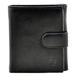 Leather Zentrum Womens Black Wallet