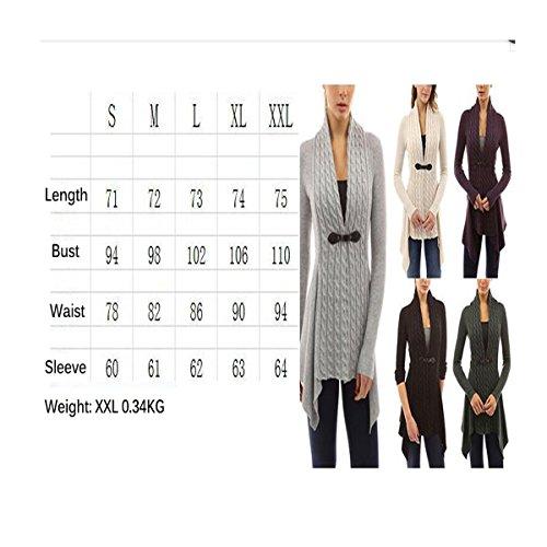 QQI Mode féminine sueur à manches longues et décontracté outwear cardigan tricoté Violet