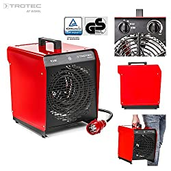 TROTEC 1410000087 TDS 50 E Elektroheizgebläse (max. 9 kW) schwarz/rot