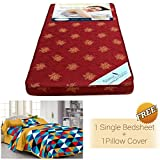 #9: Story@Home MAT_1102-FY1101 4-inch Single Size Foam Mattress (Maroon, 72x30x4)