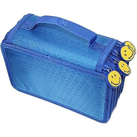Gran capacidad Katuo 72 insertando multicapa Super estudiantes estuche bolso de la pluma papelería caso Maquillaje caso cosmético bolsa de bolsa, color