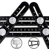 Angleizer Vorlage Werkzeug CRAZYLYNX Premium Aluminium Legierung einfache Winkel Herrscher, präzise Winkelschablone Template Tool , Multi Winkel Messlineal für DIY Handwerker Builders