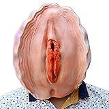 FashionA-Z Halloween Maske Latex Lustige Maske Weibliche Genital und Schale ,One Size,für Halloween Weihnachten Kostüm Party (Weibliche Genital)