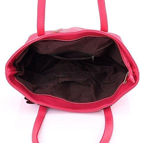 Kukubird Lyanna Tote Bag borsa Casual tutti i giorni con sacchetto raccoglipolvere Kukubird Red