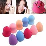 FAMILIZO 10pcs favorable de la belleza defectos del maquillaje Fundación Blender Puff Multi Esponjas forma (color al azar)