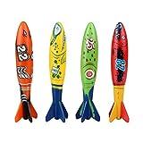 Newin Star Juego de 4 Piezas de Juguete para Piscina, Juguete para Bañera o Bañera (Colores Variados)