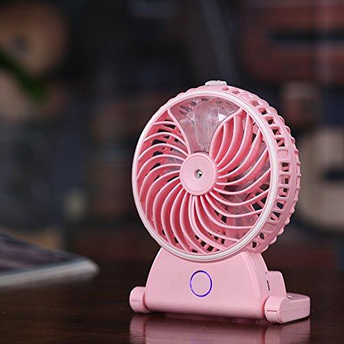 OMEu0026QIUMEI Spray Ventilator Desktop Usb Ventilator In Der Hand Gehaltenen  Ventilator Pink