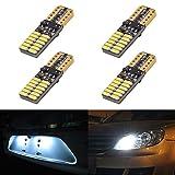 KaTur LED-Leuchtmittel für Kfz-Vorderlicht / Kennzeichenbeleuchtung, 800Lumen, T10-Fassung,W5W / 2825 /168, 24 SMD-LED-Chips (4014), verursacht keine CAN-Bus-Fehler, 5W, Weiß, 2er-Packung