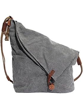 Partiss Unisex koreanische Tasche retro literarischen Hochschule Stil Schultertasche Messenger Bag