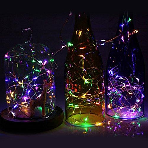 LED Lichterkette Farbige Lichter LEDs String Lights Batteriebetriebene für Weihnachten, Hochzeit, Party - 5M 50 Leds