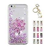 Kawaii-Shop Coque iPhone XS Max Glitter Liquide, Cute Cerisier Rose TPU Silicone Case...