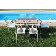 Amazon Offerte Tavoli Da Giardino.Amazon It Tavolo E Sedie Da Giardino Mosaico