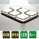 Hengda® 64W LED Deckenleuchte Warmweiß Modern Deckenlampe Esszimmer Wand-Deckenleuchte eckig Wandlampe Sparsame Dauerbeleuchtung