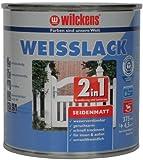 Wilckens 2-in-1 Weisslack seidenmatt, 375 ml, weiß 12491100030