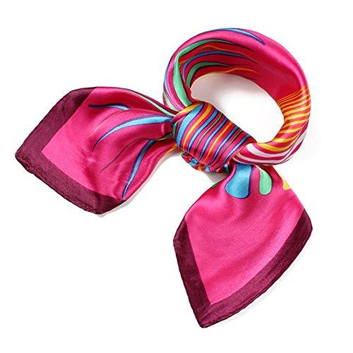 Heyjewels Mode Damen Halstuch Kopftuch Schal Tuecher 60 x 60cm (Pink)
