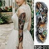 Autoadesivo del tatuaggio Moon Tree Rose Flower Pattern Braccio completo Art Flower Tattoo Grande tatuaggio