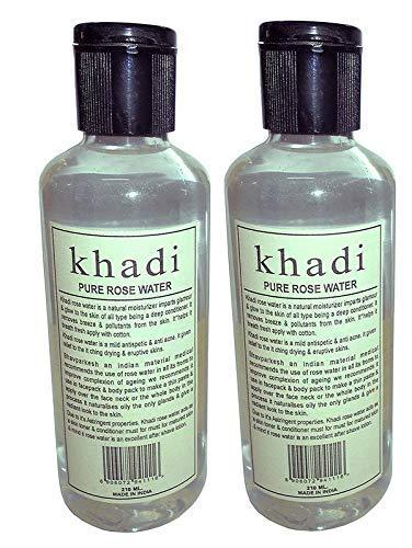 Khadi Herbal Pure Rose Water 210ml Pack of 2
