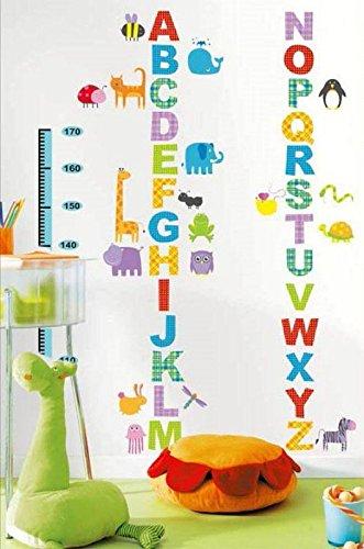 Ambiance-Live Sticker Mural Sticker enfant toise alphabet et animaux