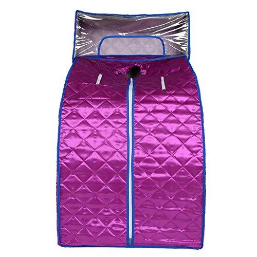 DZW Home Steam Sauna Bath Box Home Khan Steam Box Folding Fumigation Machine Sweat Khan Steam Room Power 1000W Size 100 * 82 * 68cm , purple with hood high quality,Einfach zu gebrauchen