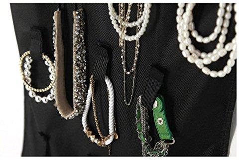 Somore-Organizador-de-Joyas-de-Doble-Cara-Colgantes-Pendientes-del-Collar-de-la-Pulsera-24-bolsillos-y-26-de-gancho-Tamao-100cm-x42cm