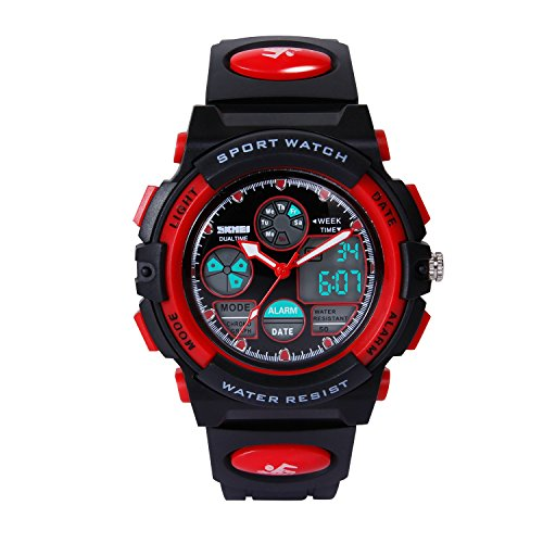 Hiwatch-Sports-Watches-for-Kids-Waterproof-Digital-Wrist-Watch-Red