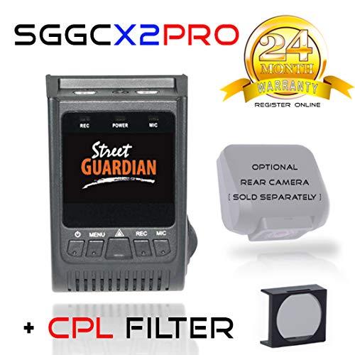 Street Guardian SGGCX2PRO Sony IMX-291 Exmor-R Sensor, WDR, USB/OTG Android  Card Reader + GPS + CPL Filter