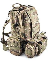 Gleader 50L Mochila Militar Tactica para Senderismo Campamento al Aire Libre - Camuflaje CP