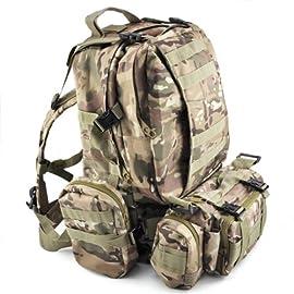 00ad8afcf6 SODIAL (R) 50 L 3 giorni Zaini Campeggio borsa di assalto tattici  all'aperto militare – CP Camuffamento