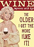 Wein verbessert mit Alter Werbeschild aus Metall klein Dangler von Original Metal Sign Co