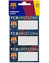 9 Etiquettes scolaires autocollantes Barça - Collection officielle Fc Barcelone - football Fc Barcelona