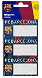 9 Etiquettes scolaires autocollantes Barça - Collection officielle Fc Barcelone - football Fc Barcelona