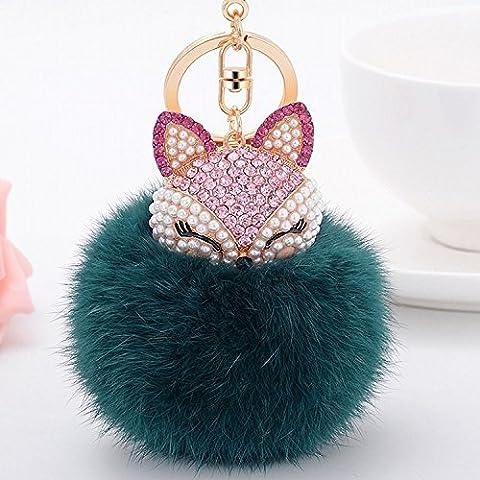 yacooler Key Chain Carino Fox palla peluche portachiavi chiave del pendente della borsa dell