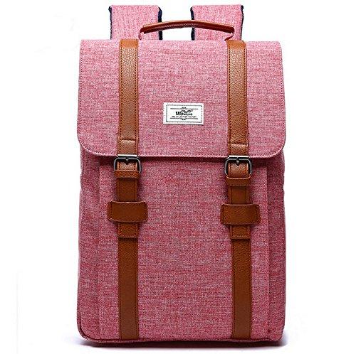# 207 doble hombro 15,6 pulgadas Mochila para portátil de 11,12,13 con Nylon resistente al agua rosa rosa