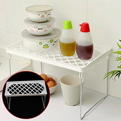 Küche Faltbare Rack, Aufbewahrungsbox woopower 14x 35cm/14x 35cm Desktop Schmutz Storage Rack–Küche Sundry rack-bathroom Schlafzimmer Regal (Für Overhead-regale Garage)