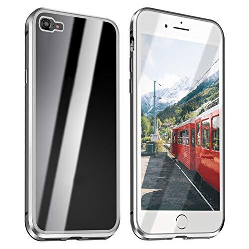 ZXK CO iPhone 7 Hülle Magnet, iPhone 8 Einteiliges 360 Grad Vollbildabdeckung Gehärtetes Glas Handyhülle mit Panzerglas Rückseite Vorne & Hinten Case Cover für iPhone 7 iPhone 8 4.7 Zoll