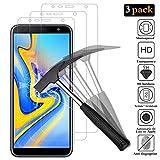 ANEWSIR Panzerglas Bildschirmschutzfolie für Samsung Galaxy J4 Plus/J6 Plus [3 Stück], 9H Härte, Einfache Installation, Ultra-klar, Blasenfrei, Panzerfolie Schutzfolie Folie Für Samsung J4+/J6+