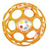 HCM Oball 28113 Orange Lochball mit Rassel Greifball Greifling Motorikball