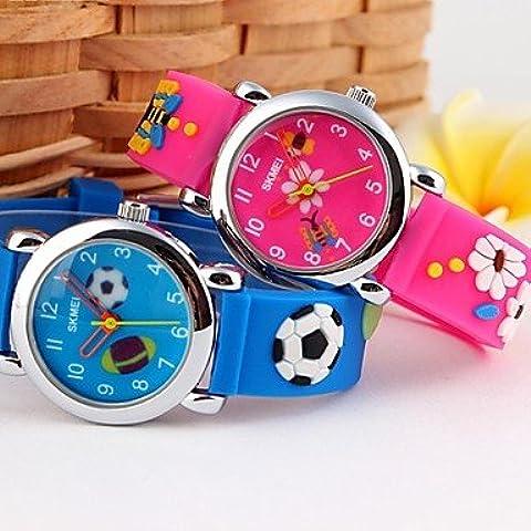 Fenkoo reloj de la historieta 3d de silicona pattenr cuarzo de la venda de los niños (colores