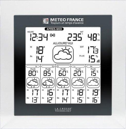 Station météo France WD6007 Transparent Noir