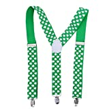 BESTOYARD Giorno di San Patrizio Accessori Bretelle Shamrock Clover Irish Day Costume Party Favors
