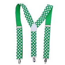 BESTOYARD Giorno di San Patrizio Accessori Bretelle Shamrock Clover Irish Day Costume Party Favors