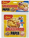 greaseproof paper 48 Sheets 20cm x 20cm