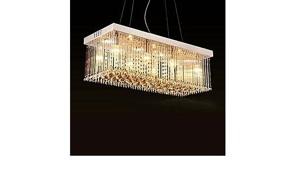 Plafoniere Rettangolari Cristallo : Lampada a sospensione moderna lampadari di cristallo k9
