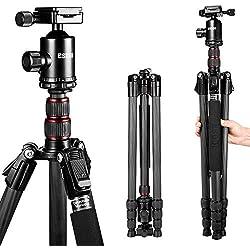 Trepied Appareil Photo - ESDDI 200cm Fibre de Carbone Trépied léger avec Monopode et Rotule 360° Panorama Compatible Canon Nikon Sony Samsung Olympus Pentax