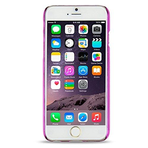 Phone case & Hülle Für iPhone 6 / 6S, Num 6 Muster Ultra-dünne Beschichtung Skinning Schutzhülle ( Color : Magenta ) Magenta