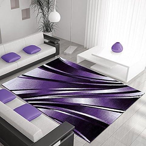 Progettista moderno tappeto PARMA 120 X 170 LILA