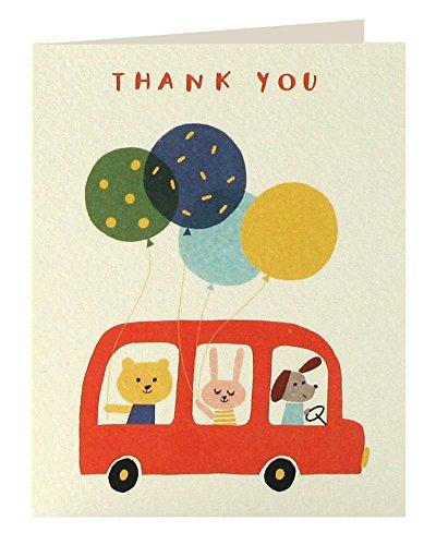 Pack of 5 James Ellis Mini StationeryTree Thank You Notecard