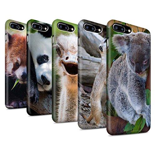 Clipser Matte Coque de Stuff4 / Coque pour Apple iPhone 7 Plus / Girafe Design / Animaux sauvages Collection Multipack Mignon