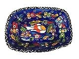 Neue Türkische Keramik Schüssel blau handbemalt Trinkets Knabbereien Küche Party