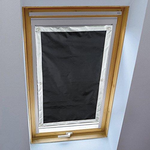 Liveinu Dachfensterrollo für Velux Dachfenster Verdunkelungsrollo Sonnenschutzrollo UV Schutz Thermo Rollo mit Saugnäpfe Ohne Bohren 100{e189f9eec73b81c22128cb8abe174e272bacc3ebc616b732f129901d328bac54} Blickdicht Schwarz 76 x 115 cm